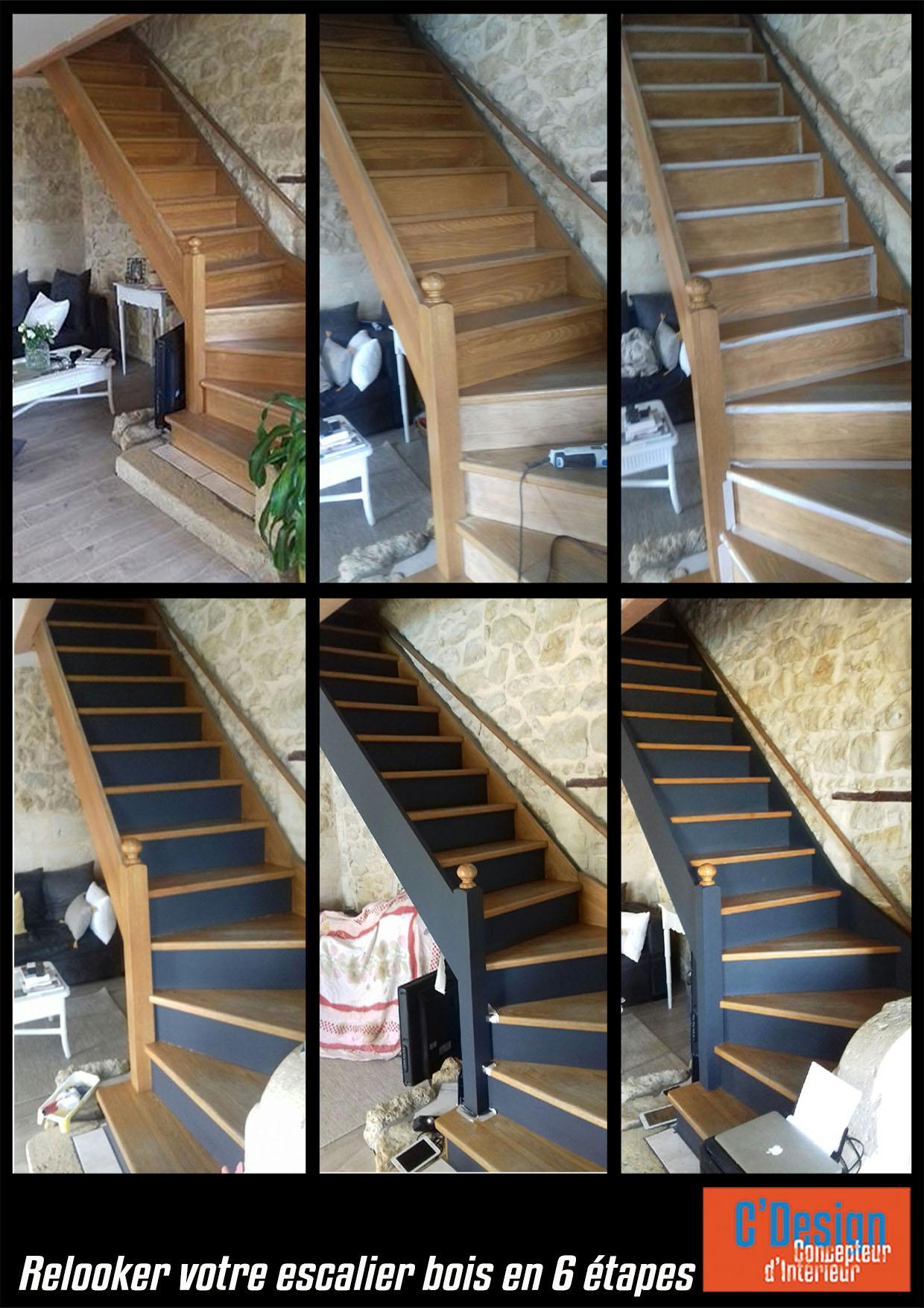 Repeindre Escalier En Bois accueil - escalier en bois relooké